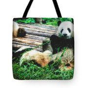 3722-panda -  Pastel Chalk 2  Tote Bag