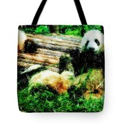 3722-panda -  Pastel Pencils Tote Bag