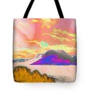 Space Landscape Tote Bag