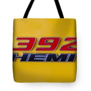 392 Hemi In Yellow Tote Bag