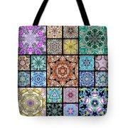3d Cosmic Sample Grid Tote Bag