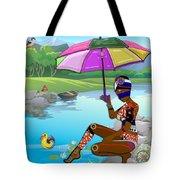 Girl By The Lake Tote Bag