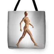 3d Rendering Of A Naked Woman Walking Tote Bag