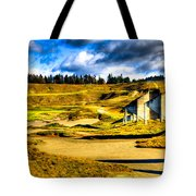 #18 At Chambers Bay Golf Course - Location Of The 2015 U.s. Open Tournament Tote Bag