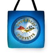 1958 Chevrolet Corvette Emblem Tote Bag