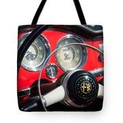 1961 Alfa Romeo Giulietta Spider Steering Wheel Emblem -1239c Tote Bag