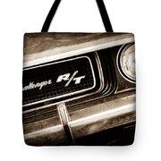 1970 Dodge Challenger Rt Convertible Grille Emblem Tote Bag