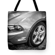 2010 Ford Mustang Convertible Bw Tote Bag
