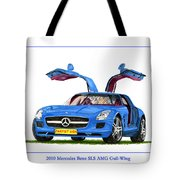 2010 Mercedes Benz S L S Gull-wing Tote Bag
