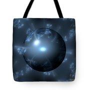 Abstract Blue Globe Tote Bag