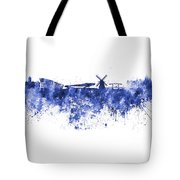 Amsterdam Skyline In Watercolor On White Background Tote Bag