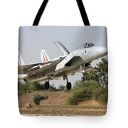 An F-15c Baz Of The Israeli Air Force Tote Bag