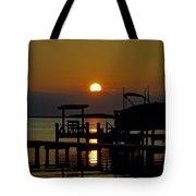 An Outer Banks North Carolina Sunset Tote Bag