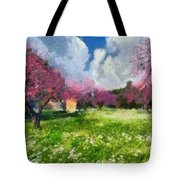 Ancient Olympia During Springtime Tote Bag