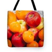 Apple Tangerine And Oranges Tote Bag