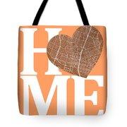 Austin Street Map Home Heart - Austin Texas Road Map In A Heart Tote Bag
