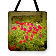 Fence Line Flowers Tote Bag
