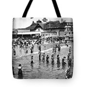 Bathers At Coney Island Tote Bag