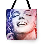 Blue And Red Beauty Tote Bag by Atiketta Sangasaeng