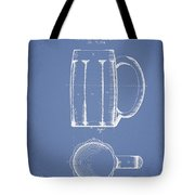 Beer Mug Patent From 1876 - Light Blue Tote Bag