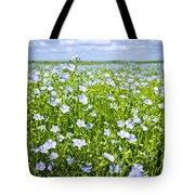 Blooming Flax Field Tote Bag