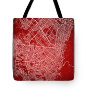Bogota Street Map - Bogota Colombia Road Map Art On Colored Back Tote Bag