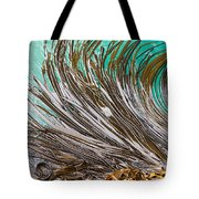 Bull Kelp Blades On Surface Background Texture Tote Bag