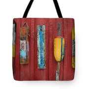 Buoys At Rockport Motif Number One Lobster Shack Maritime Tote Bag