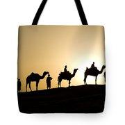 Camel Caravan, India Tote Bag