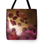 Cells Of The Immune System Tote Bag