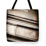 Chevrolet Camaro Taillight Emblem Tote Bag