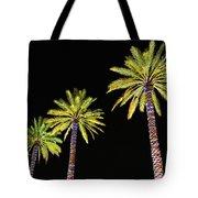 4 Christmas Palms Tote Bag