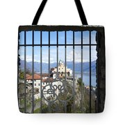 Church Madonna Del Sasso Tote Bag
