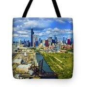 City At The Waterfront, Lake Michigan Tote Bag