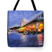 City Of Rhodes During Dusk Time Tote Bag
