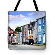 Colorful Houses In St. John's Tote Bag by Elena Elisseeva