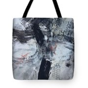 Composition On Black And White Tote Bag