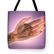 Conceptual Image Of Bones In Human Hand Tote Bag
