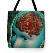 Conceptual Image Of Female Body Tote Bag