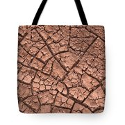 Cracked Dry Clay Tote Bag