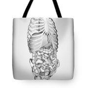 Digestive System And Bones Tote Bag