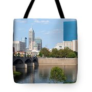 Downtown Indianpolis Indiana Skyline Tote Bag