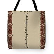 Doyle Written In Ogham Tote Bag