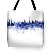 Dubai Skyline In Watercolour On White Background Tote Bag