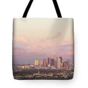 Elevated View Of City At Dusk, Downtown Tote Bag