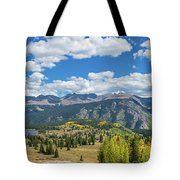 Elevated View Of Trees On Landscape Tote Bag