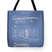 Fender Floating Tremolo Patent Drawing From 1961 - Light Blue Tote Bag by Aged Pixel