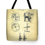 Fishing Reel Patent From 1896 Tote Bag
