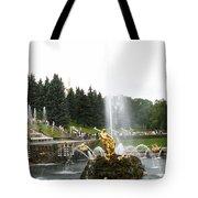 Fountain In Petergof Tote Bag
