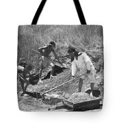 Indians Making Adobe Bricks Tote Bag
